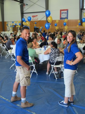 Student Orientation staff welcoming new students